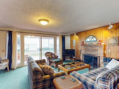 Photo for Cozy home w/ ocean views, easy beach access, & outdoor firepit - dogs welcome!