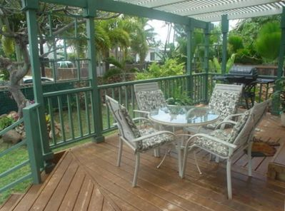 Enjoy sitting on the lanai and listening to the ocean only 100 steps away