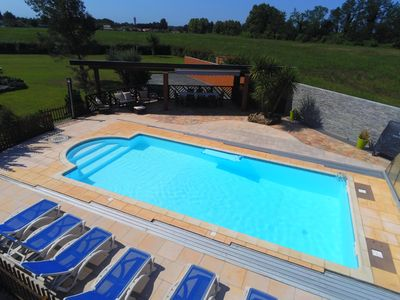 Photo for A 10 min beaches Hossegor - Capbreton. Pool with shelter. Petanque. Trampoline