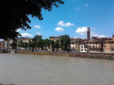 external view the Adige river