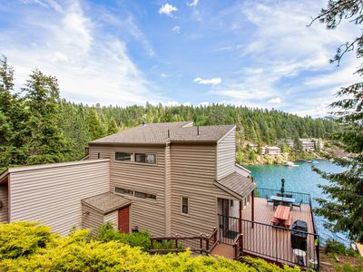 Photo for NEW LISTING! Lovely lakefront home w/ spacious deck and private dock