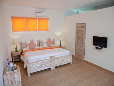 Photo for Double Room beachfront 11-bedroom compound