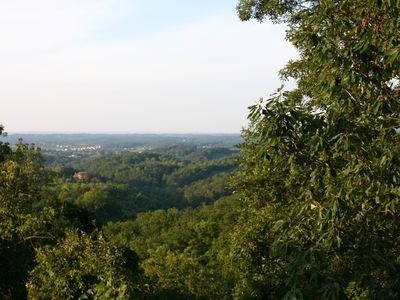 Photo for BEAUTIFUL 5 BEDROOM SLEEPS 16! VIEWS! 1 MILE FROM DOLLYWOOD HEATED POOL/HOT TUB