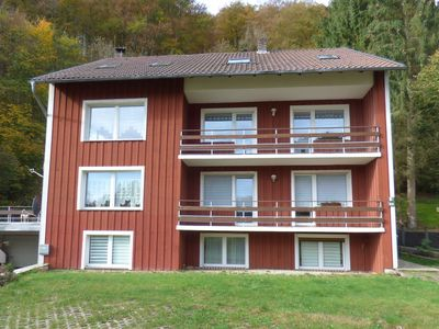 Photo for Apartment directly on the forest and hiking trail, with balcony, pure peace, 2-8 pers. , WLan grat.