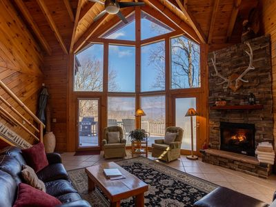Photo for Misty Peak - Log cabin privately located but conveniently located to Boone.