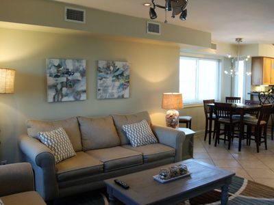 Photo for Casual Spacious Beach Condo with Comfy Furniture and a get-a-way-loft