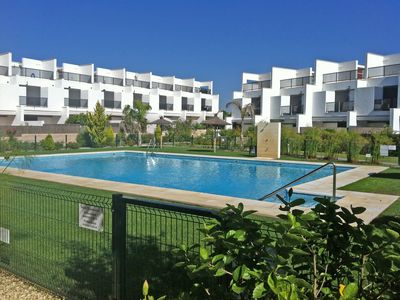 Photo for Conil, house design, gated community. Swimming pool, beach 300 m. Wifi