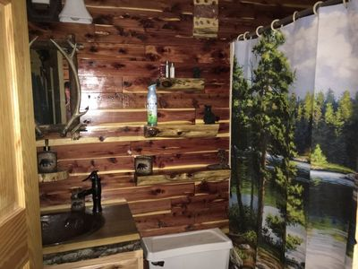 Photo for Gorgeous log cabin experience with the comfort or convenience of a gated resort!