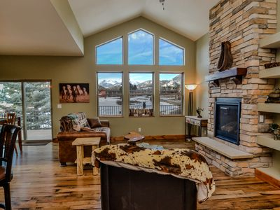 Photo for New 3 Bdrm, View Continental Divide & Elk from Deck, Walk to Golf&Town (3154)