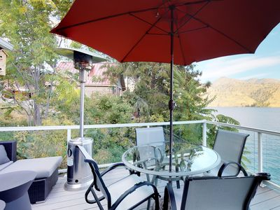 Photo for NEW LISTING! Dog-friendly lakefront home w/casita, private dock & lake views