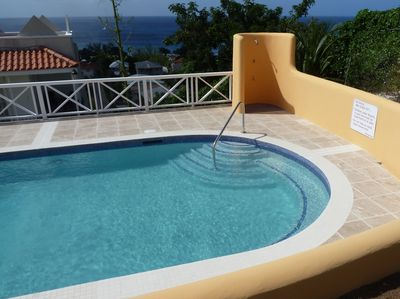 View of the sea from our new pool