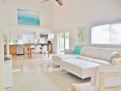 Photo for New 3 Bedrm/3 Bath TROPICAL Pool Home. Short walk to Beach and many restaurants