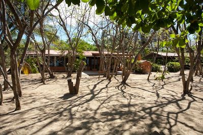 Stepping into the grounds of Casa Velas from the beach
