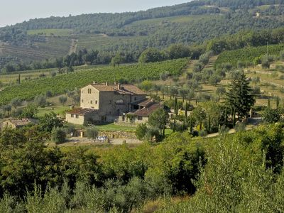 Photo for Ancient farm situated in the heart of the Chianti Classico Senese, Pool and View