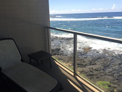 Relax on your lanai above the ocean. Stay for the sunset.