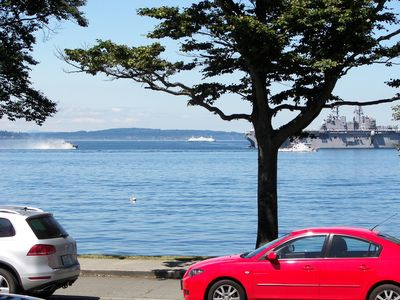 Photo for Alki Beach, Majestic views of the sound, mountains & shipping lanes