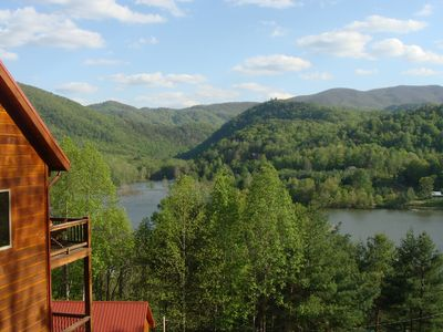 Photo for Amazing Views of Mtn/Lake, Fast Wifi, 2 Fireplaces, 25m Boone and Bristol