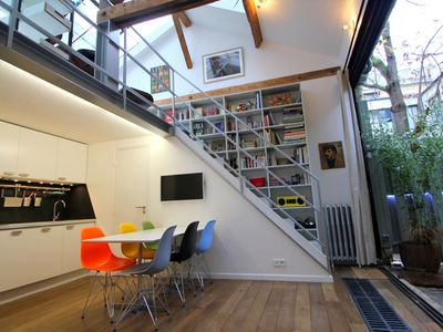 Photo for Architect's duplex loft in the heart of the Marais