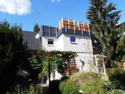 Photo for Holiday apartment with a beautiful view of the Rhine Valley, WiFi, two bathrooms, wheelchair friendly, TV in large bedrooms!