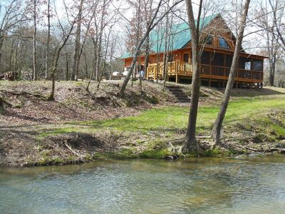 Photo for The Lost Cabin at the Creek is private, quiet, and beautiful. A perfect getaway!