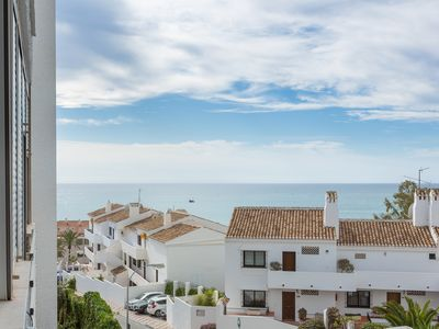 Photo for Nice air-conditioned sea views studio, free wifi internet access in BENALMADENA