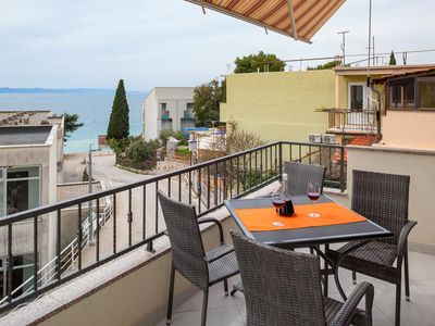 Photo for Two bedroom apartment with terrace and sea view Podgora (Makarska)