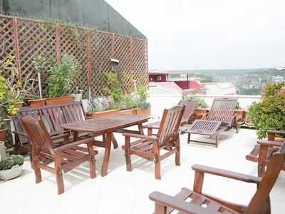 Photo for Comfortable apartment with large sun terrace - pure culture