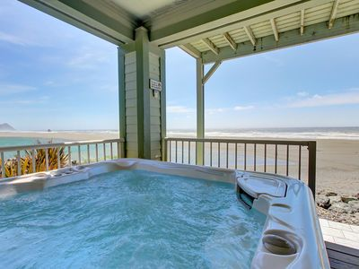 Photo for Dog-friendly oceanfront home with private hot tub & unbeatable views