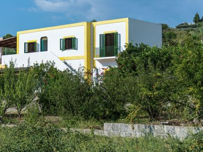 Photo for On the beautiful Aeolian island of Salina, close to sea with a lovely terrace.