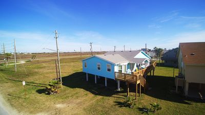 Photo for Beach views and a short walk to the beach with Blue Ribbon Cottage! Dog friendly with 2 masters!