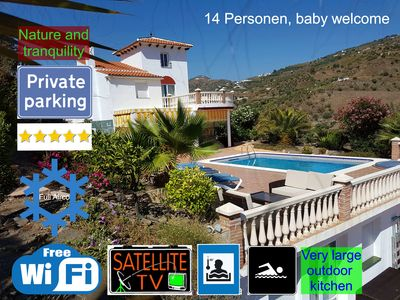Photo for Luxury 14 pers. Villa, Full airco, Wifi, Private, Nerja, Torrox, Torre del Mar, Children