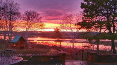 Photo for Great Sunsets, Newly Renovated Cottage on the Pond Close to Beaches