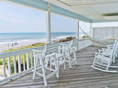 Photo for Retrouvaille 5 Bedroom Oceanfront beautiful quiet family oriented NC S. OBX home