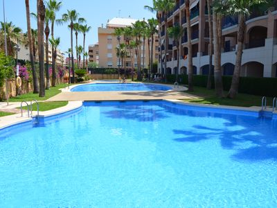 Photo for Apartment with 1 bedroom, sofa bed, 2 bathrooms, air conditioning, lift, Gem. Pool....