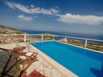 Photo for ORFOS BEAUTIFUL VILLAS WITH PRIVATE POOL AND AMAZING SEA VIEW-SLEEP 4