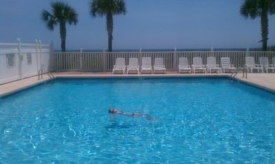 Photo for Large Oceanfront Pool! 4 BR/3 BA Beautifully Decorated Corner Condo-Private!