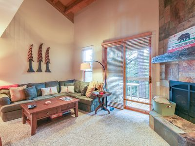 Photo for Rustic condo w/ balcony, grill, & shared pool/hot tub access!