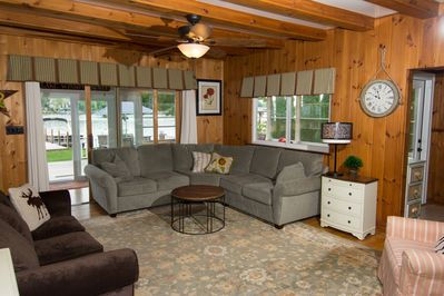 22X24 Family room leads to sun porch