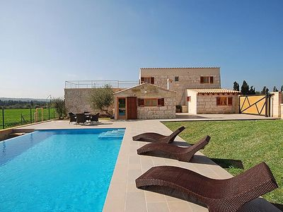 Photo for 3 bedroom Villa, sleeps 6 in Llubí with Pool, Air Con and WiFi