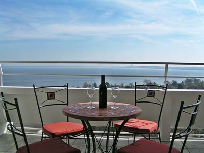 Comfortable seating on the large terrace