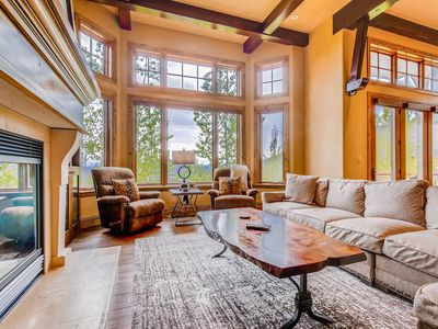 Photo for Walk to the lifts from this townhome w/ a private hot tub & mountain views