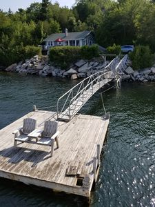 Photo for Sea Breeze Cottage on the Ocean with a dock and views of Acadia National park