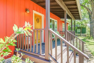 The perfect front porch for sitting in the shade and daydreaming.