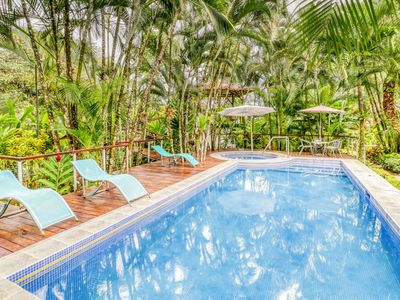 Photo for Exotic and inviting house w/private pool, garden views & surrounded by nature!