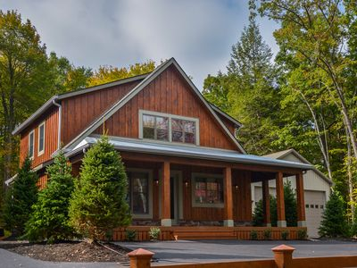 Photo for Centrally located with 3 master suites, hot tub & fire pit!