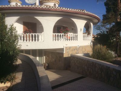 Photo for Lovely large one bedroom flat private villa with own pool