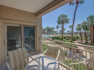 Photo for 433 Captains Walk-Oceanfront, walk right from your patio to the pool & ocean.