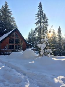 Photo for Cozy mountain cabin with hot tub, WiFi, and a dog friendly attitude!