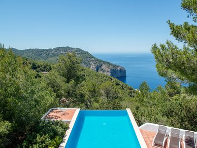 Photo for Villa with Private Pool and Spectacular  Sea and Sunset Views near San Miguel