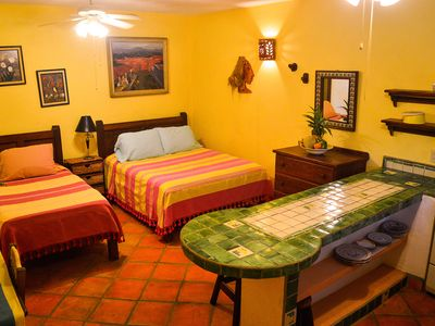 Photo for Hidden gem of Puerto Escondido, pool-side apt, 1min walk to beach, patio, yoga